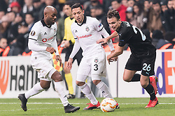 (L-R) Vagner Silva de Souza Love of Besiktas JK, Adriano Correia Claro of Besiktas JK , Andreas Vindheim of Malmo FF during the UEFA Europa League group I match between between Besiktas AS and Malmo FF at the Besiktas Park on December 13, 2018 in Istanbul, Turkey