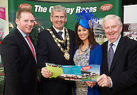 At the launch of The Galway Races summer festival 2015 were Michael Moloney, Mayor of Galway Cllr Frank Fahy, Sandra Ginnelly, Galway Race Course and Terry Cunningham chairman The Galway race Course. The launch was held at the Radisson blu Galway  .Photo:Andrew Downes:XPOSURE