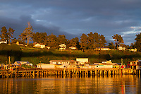 Fort Bragg, California. A small town along the north California coast.