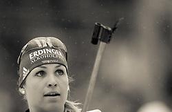 11.03.2012, Chiemgau Arena, Ruhpolding, GER, IBU, Biathlon Weltmeisterschaft, Massenstart Damen, im Bild Magdalena Neuner (GER) // Magdalena Neuner (GER) during the Mass Start Women of the IBU Biathlon World Championship at Chiemgau Arena, Ruhpolding, Germany on 2012/03/11. EXPA ..Pictures © 2012, PhotoCredit: EXPA/ Juergen Feichter