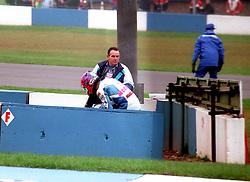 JIM MOODIE OXFORD  DUCATI AFTER CRASH, , WSB World Superbike Championship Donington Park 3rd October  1993
