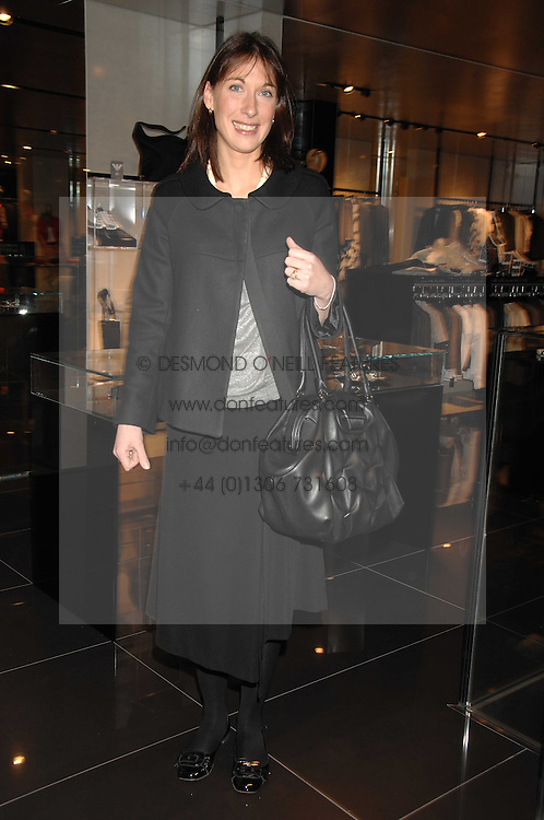 SAMANTHA CAMERON at a lunch to celebrate the launch of the Top Tips for Girls website (toptips.com) founded by Kate Reardon held at Armani, Brompton Road, London on 5th March 2007.<br />