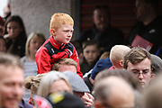 Young Bristol City fans await their team, before  the EFL Sky Bet Championship match between Bristol City and Birmingham City at Ashton Gate, Bristol, England on 7 May 2017. Photo by Andrew Lewis.