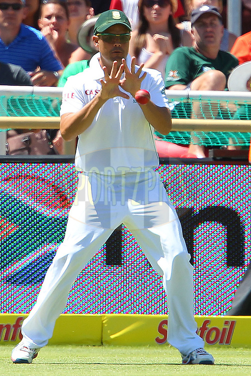 Jacques Rudolf fields during the 3rd day of the 1st Sunfoil Test match between South Africa and New Zealand held at Newlands Stadium in Cape Town, South Africa on the 4th January 2013..Photo by Ron Gaunt/SPORTZPICS .