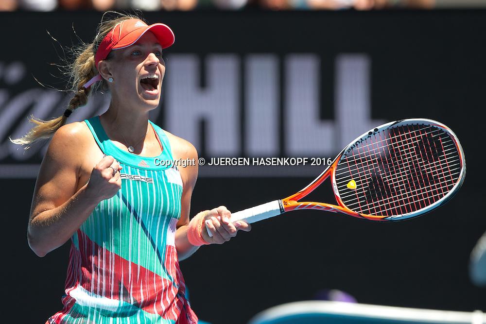 Angelique Kerber, Australian Open 2016<br /> <br /> Tennis - Australian Open 2016 - Grand Slam ITF / ATP / WTA -  Melbourne Park - Melbourne - Victoria - Australia  - 25 January 2016.