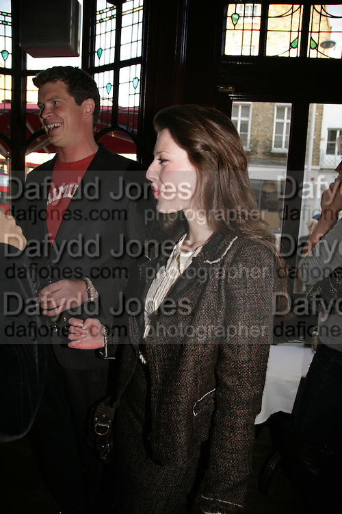 Jack Kidd and Lily Lewis, PJ's Annual Polo Party . Annual Pre-Polo party that celebrates the start of the 2007 Polo season.  PJ's Bar &amp; Grill, 52 Fulham Road, London, SW3. 14 May 2007. <br /> -DO NOT ARCHIVE-&copy; Copyright Photograph by Dafydd Jones. 248 Clapham Rd. London SW9 0PZ. Tel 0207 820 0771. www.dafjones.com.