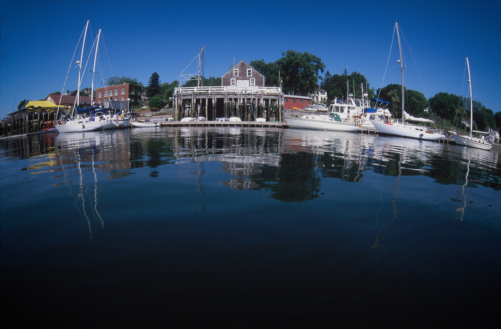 Harbor Fisheye, Castine, Maine, US