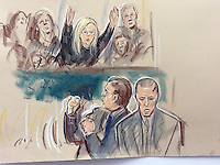 Sentencing day for Gary Dobson and David Norris at the Old Bailey, London.