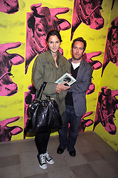 "TOM HOLLANDER and FRAN HICKMAN at an exhibition of work by Andy Warhol entitled ""Other Voices, Other Rooms"" at The Hayward Gallery, Southbank Centre, London SE1 on 6th October 2008."