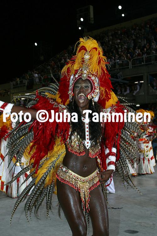 04.03.2003, Rio de Janeiro, Brazil..Carnaval 2003 - Desfile das Escolas de Samba, Grupo Especial / Carnival 2003 - Parades of the Samba Schools..Desfile de / Parade of:  GRES Unidos do Porto da Pedra.©Juha Tamminen