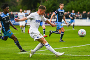 Leeds United Robbie Gotts (25) passes the ball during the Pre-Season Friendly match between Tadcaster Albion and Leeds United at i2i Stadium, Tadcaster, United Kingdom on 17 July 2019.