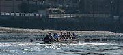 London, Great Britain,   OUBC, Blue Boat, paddling back towards Putney .  BNY Mellon, University Men's Boat Race Tideway Week, Putney to Mortlake. ENGLAND. <br /> <br /> Tuesday   07/04/2015<br /> <br /> [Mandatory Credit;Intersport-images]