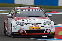 #116 Ashley Sutton GBR MG Racing RCIB Insurance MG6GT during Media Day Test Session as part of the BTCC Media Day at Donington Park, Melbourne, Leicestershire, United Kingdom. March 22 2016. World Copyright Peter Taylor/PSP. Copy of publication required for printed pictures.  Every used picture is fee-liable.