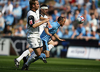 Photo: Rich Eaton.<br /> <br /> Coventry City v Preston North End. Coca Cola Championship. 14/04/2007. Michael Mifsud right of Coventry can't force his way through the Preston defence