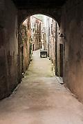 Alleyway and houses, Skradin, Dalmatia, Croatia