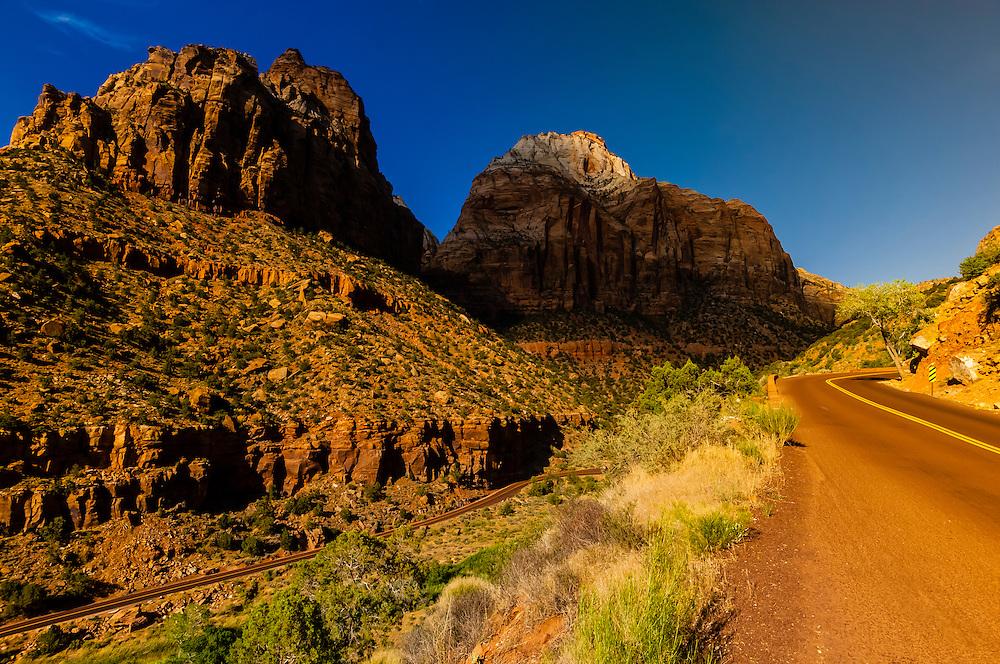 Zion-Mt. Carmel Highway, Zion National Park, Utah USA.