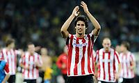 Fotball<br /> Kvalifisering Europe League<br /> Athletic Bilbao v Young Boys<br /> 06.08.2009<br /> Foto: EQ Images/Digitalsport<br /> NORWAY ONLY<br /> <br /> Bilbaos Xabi Castillo jubelt nach dem Sieg gegen YB