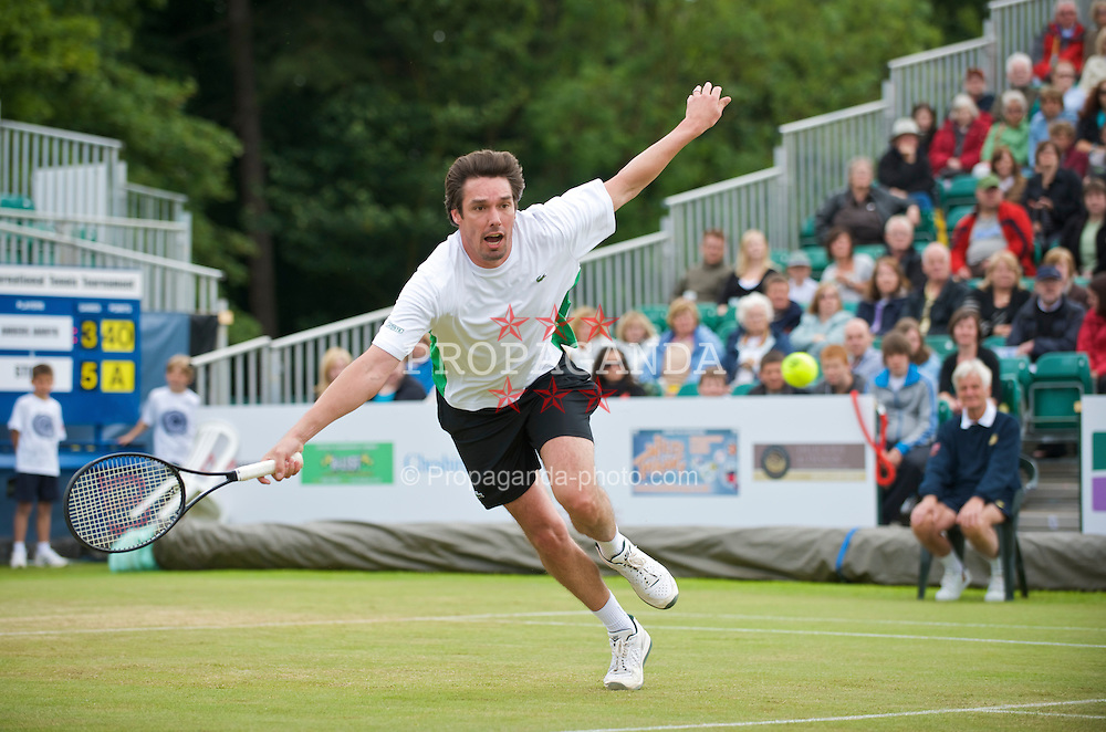 LIVERPOOL, ENGLAND - Sunday, June 21, 2009: Michael Stich (GER) during Day Five of the Tradition ICAP Liverpool International Tennis Tournament 2009 at Calderstones Park. (Pic by David Rawcliffe/Propaganda)