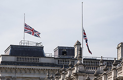 © Licensed to London News Pictures. 02/07/2015. London, UK. The Union Flag above the Houses of Parliament is flying at half mast today in memory of the 30 British tourists that died in the terrorist attack in Sousse, Tunisia last week. Photo credit : James Gourley/LNP