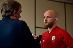 WREXHAM, WALES - Wednesday, June 5, 2019: Wales' Jonathan Williams speaks to the media at Glyndwr University ahead of the UEFA Euro 2020 Qualifying Group E match between Croatia and Wales. (Pic by David Rawcliffe/Propaganda)