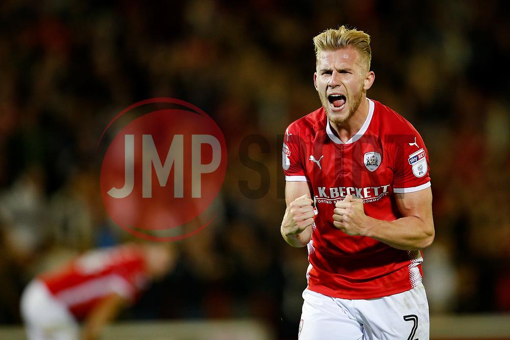 Barnsley's Jason McCarthy celebrates at full time - Mandatory by-line: Matt McNulty/JMP - 15/08/2017 - FOOTBALL - Oakwell Stadium - Barnsley, England - Barnsley v Nottingham Forest - SkyBet Championship