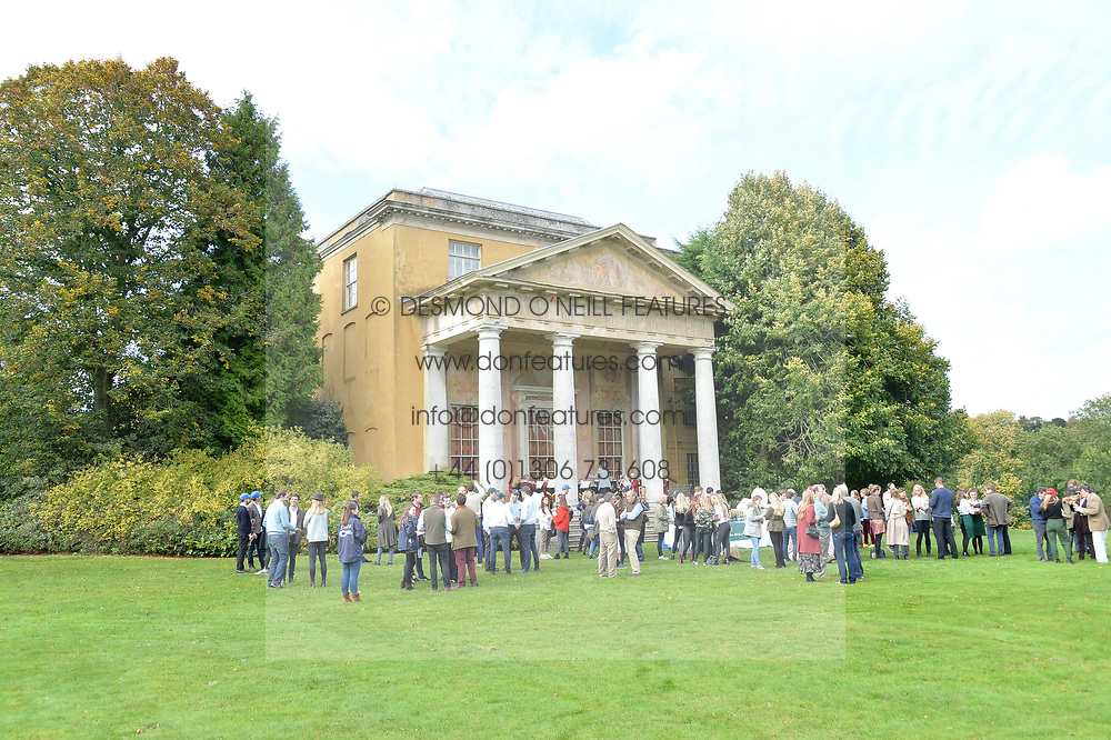 Atmosphere at Young Guns raising money for the fight against breast cancer trough Cancer Research UK held at EJ Churchill Shooting School followed by lunch at West Wycombe Park, England. 23 September 2017.