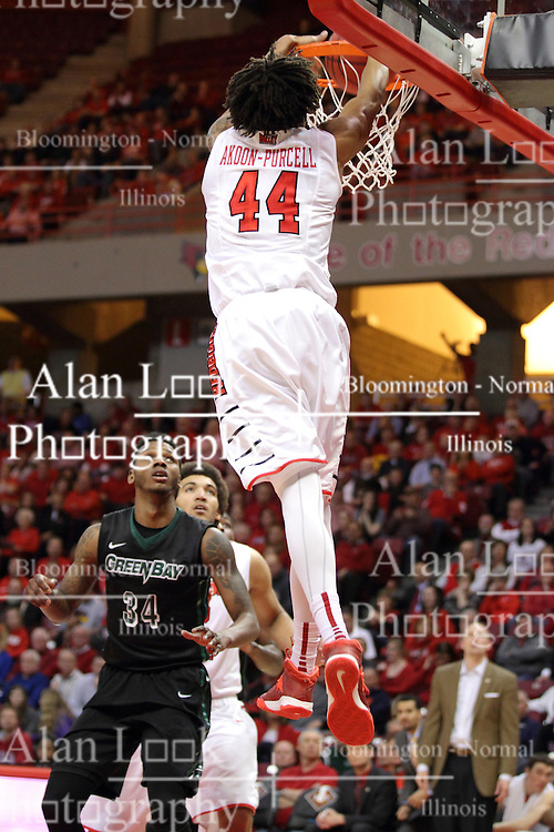 18 March 2015:  DeVaughn Akoon-Purcell - SLAM!  during an NIT men's basketball game between the Green Bay Phoenix and the Illinois State Redbirds at Redbird Arena in Normal Illinois