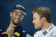 April 15-17, 2016: Chinese Grand Prix, Shanghai, Daniel Ricciardo (AUS), Red Bull, Nico Rosberg  (GER), Mercedes