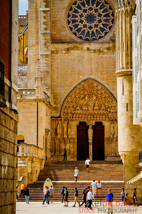 Cathedral view. Burgos city.<br /> Castile and Leon, Spain.
