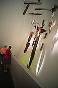 Bomben, Militärhistorisches Museum innen (umgebaut von Liebeskind), Neustadt, Dresden, Sachsen, Deutschland | bombs, interior of Military Museum (rebuilt by Liebeskind), Neustadt, Dresden, Saxony, Germany,