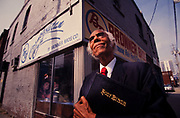 Nathaniel Bronner of Bronner Brothers Cosmetics at his Auburn Avenue store in Atlanta, Georgia Nathaniel Bronner (with A.E. Bronner) founder of Bronner Bros. Cosmetics outside his store on Auburn Avenue in Atlanta, GA