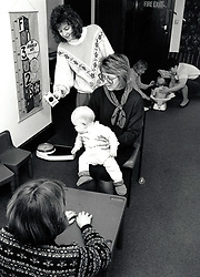 Baby clinic, Nottingham UK, 1989