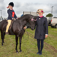 Brid Shannon and her daughter Abby entires in the pony jumping compeition at the Scariff Agricultural Show 2014