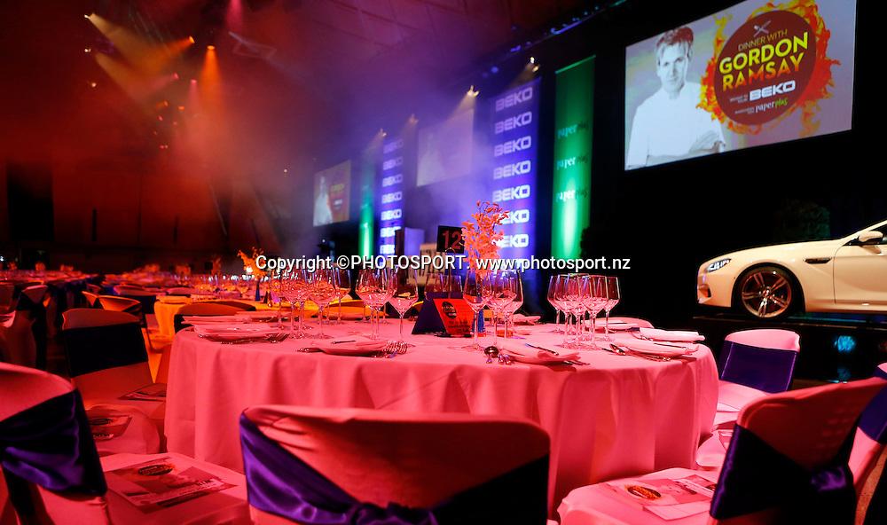 during Dinner With Gordon Ramsay. Vodafone Events Centre, Manukau, Auckland. Friday 26 April 2013.  Photo: Simon Watts / photosport.co.nz
