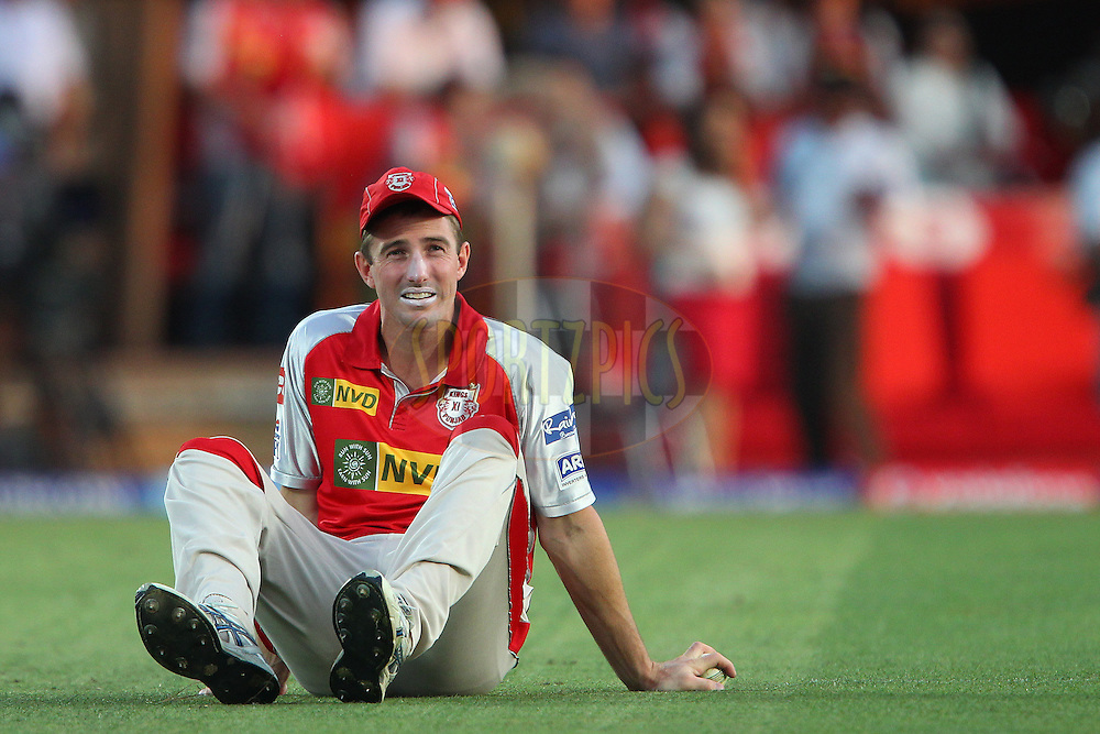 Shaun Marsh looks up after a chance was missed during match 69 of the Pepsi Indian Premier League between The Kings XI Punjab and the Mumbai Indians held at the HPCA Stadium in Dharamsala, Himachal Pradesh, India on the on the 18th May 2013..Photo by Ron Gaunt-IPL-SPORTZPICS ..Use of this image is subject to the terms and conditions as outlined by the BCCI. These terms can be found by following this link:..http://www.sportzpics.co.za/image/I0000SoRagM2cIEc
