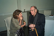 SIGRID RAUSING AND SIR HAROLD PINTER, party to celebrate the 100th issue of Granta magazine ( guest edited by William Boyd.) hosted by Sigrid Rausing and Eric Abraham. Twentieth Century Theatre. Westbourne Gro. London.W11  15 January 2008. -DO NOT ARCHIVE-© Copyright Photograph by Dafydd Jones. 248 Clapham Rd. London SW9 0PZ. Tel 0207 820 0771. www.dafjones.com.