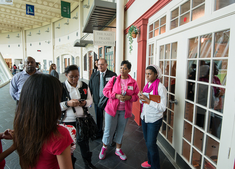 Members of the Worthing High School PAT tour Wunsche Academy in Spring ISD, October 18, 2013.