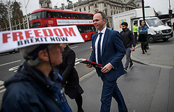 © Licensed to London News Pictures. 27/03/2019. London, UK.  Number 10 Chief of Staff GAVIN BARWELL is seen arriving at the Houses of Parliament in London. MPs will hold a series of indicative votes on different Brexit options this evening. Photo credit: Ben Cawthra/LNP