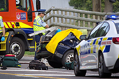 Tauranga-Fatal accident between car and milk tanker, Paengaroa