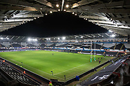 A general view of Liberty Stadium, home of Ospreys<br /> <br /> Photographer Simon King/Replay Images<br /> <br /> European Rugby Champions Cup Round 5 - Ospreys v Saracens - Saturday 13th January 2018 - Liberty Stadium - Swansea<br /> <br /> World Copyright © Replay Images . All rights reserved. info@replayimages.co.uk - http://replayimages.co.uk