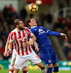 Ross Barkley of Everton challenges Erik Pieters of Stoke City - Mandatory by-line: Matt McNulty/JMP - 01/02/2017 - FOOTBALL - Bet365 Stadium - Stoke-on-Trent, England - Stoke City v Everton - Premier League
