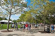 Fans attend Bunbury Music Festival at Yeatman's Cove in Cincinnati, Ohio on July 13, 2013.
