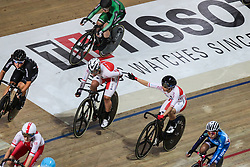 March 2, 2019 - Pruszkow, Poland - Yumi Kajihara, Kie Furuyama (JPN) competes in the Women's Madison on day four of the UCI Track Cycling World Championships held in the BGZ BNP Paribas Velodrome Arena on March 02 2019 in Pruszkow, Poland. (Credit Image: © Foto Olimpik/NurPhoto via ZUMA Press)