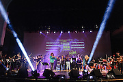 Photos of the Electrify Your Music Foundation New York City launch event with The 5-Borough Youth Rock Symphony featuring electric violinist Mark Wood, vocalist Laura Kaye and Dee Snider of Twisted Sister performing live at Brooklyn Technical High School Theater in Brooklyn, NY. April 26, 2013. Copyright © 2013 Matthew Eisman. All Rights Reserved.