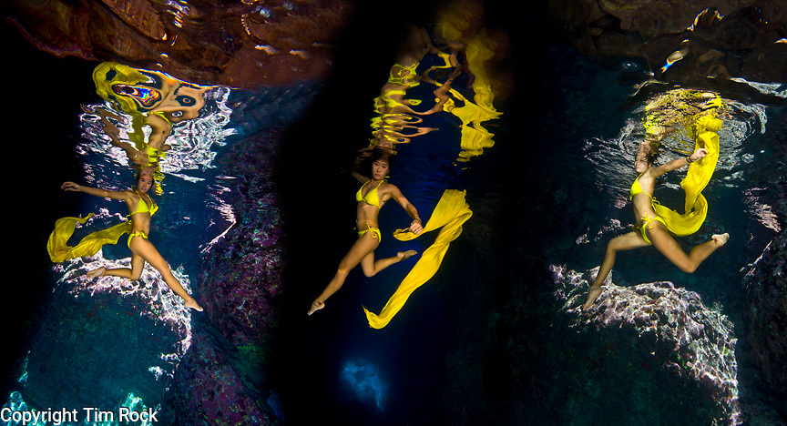 An undersea ballet in the Senhanom Cave, Rota
