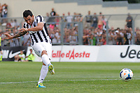 Gol di Carlos Tevez Juventus, Saint Vincent 17/7/2013 <br /> Partita amichevole Juventus vs Dilettanti Valdostani<br /> Football Calcio 2013/2014 Serie A<br /> Foto Marco Bertorello Insidefoto