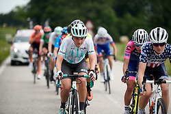 Leah Thomas (USA) in the lead group during Stage 8 of 2019 Giro Rosa Iccrea, a 133.3 km road race from Vittorio Veneto to Maniago, Italy on July 12, 2019. Photo by Sean Robinson/velofocus.com