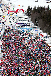 15.01.2012, Kulm, Bad Mitterndorf, AUT, FIS Ski Flug Weltcup, erster Durchgang, im Bild Fans // Fans during the first round of FIS Ski Flying World Cup at the 'Kulm', Bad Mitterndorf, Austria on 2012/01/15, EXPA Pictures © 2012, PhotoCredit: EXPA/ Erwin Scheriau