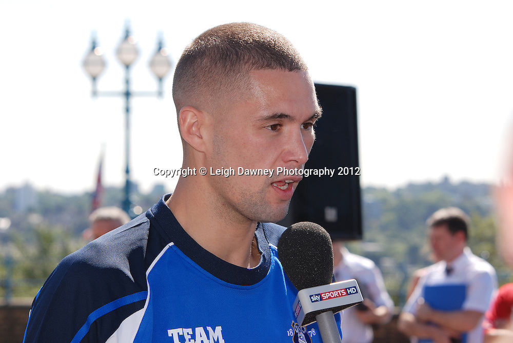 Tony Bellew at The Weigh In at Alexandra Palace, Muswell Hill, North London on Friday 7th September 2012. Matchroom Sport. Pictures ©Leigh Dawney Photography 2012.