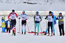 ARENDZ Mark, CAN, LW6, EHLER Alexander, GER, LW4, VOVCHYNSKYI Grygorii, UKR, LW8, NITTA Yoshihiro, JPN at the 2018 ParaNordic World Cup Vuokatti in Finland